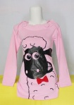 Kaos Gambar lucu Shaun The Sheep Pink