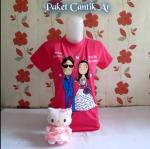 Paket Cantik A1 Hello Kitty Pake Bunga Pink