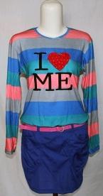 Baju Kaos Lengan Panjang Biru